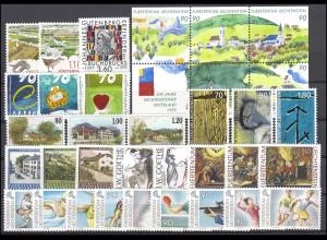 1190-1223 Liechtenstein Jahrgang 1999 komplett, postfrisch
