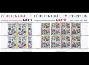 1297-1298 Briefmarkenausstellung LIBA 2002, 2 Werte, Kleinbogen-Satz **