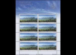 1460 SEPAC Landschaften - Blick nach Liechtenstein, Kleinbogen **