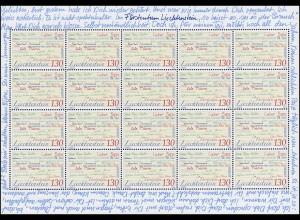 1470 Europa - Der Brief / Anredeformen, Kleinbogen **