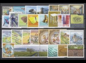 1543-1579 Liechtenstein Jahrgang 2010 komplett, postfrisch