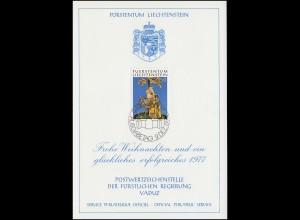 Liechtenstein 663 Weihnachten - Grußkarte zum Jahreswechsel 1977