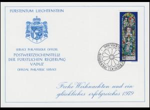 Liechtenstein 721 Weihnachten - Grußkarte zum Jahreswechsel 1979