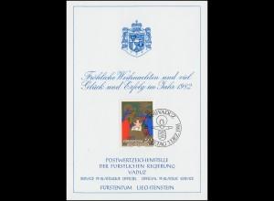 Liechtenstein 789 Weihnachten - Grußkarte zum Jahreswechsel 1982