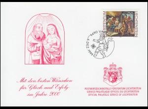 Liechtenstein 1218 Weihnachten - Grußkarte zum Jahreswechsel 2000