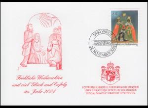 Liechtenstein 1332 Weihnachten - Grußkarte zum Jahreswechsel 2004