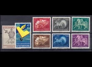 523-530 Luxemburg-Jahrgang 1954 komplett, postfrisch