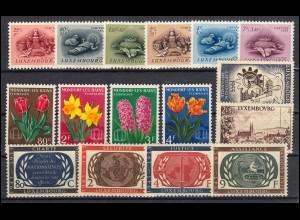 531-546 Luxemburg-Jahrgang 1955 komplett, postfrisch