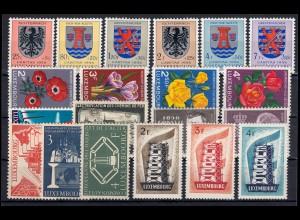 547-566 Luxemburg-Jahrgang 1956 komplett, postfrisch