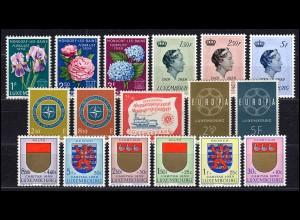 601-617 Luxemburg Jahrgang 1959 komplett, postfrisch