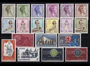 618-636 Luxemburg-Jahrgang 1960 komplett, postfrisch