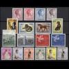 637-654 Luxemburg-Jahrgang 1961 komplett, postfrisch
