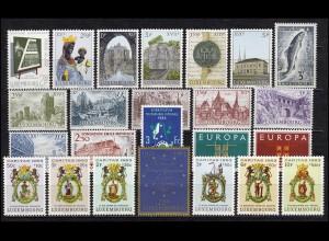 666-689 Luxemburg-Jahrgang 1963 komplett, postfrisch