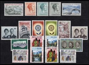 690-708 Luxemburg-Jahrgang 1964 komplett, postfrisch