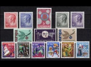 709-722 Luxemburg Jahrgang 1965 komplett, postfrisch