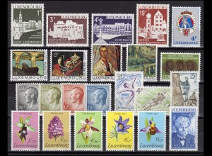 899-921 Luxemburg Jahrgang 1975 komplett, postfrisch