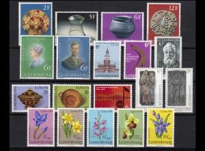 922-940 Luxemburg Jahrgang 1976 komplett, postfrisch