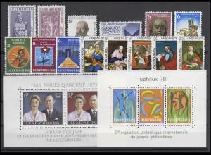962-980 Luxemburg Jahrgang 1978 komplett, postfrisch