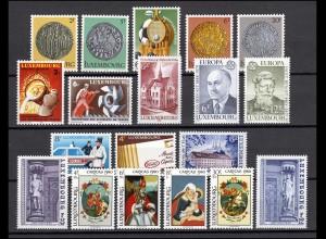1003-1021 Luxemburg Jahrgang 1980 komplett, postfrisch