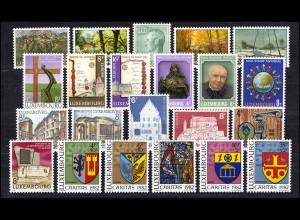 1046-1067 Luxemburg Jahrgang 1982 komplett, postfrisch