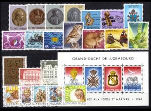 1117-1142 Luxemburg Jahrgang 1985 komplett, postfrisch
