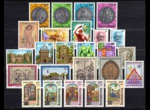 1143-1167 Luxemburg Jahrgang 1986 komplett, postfrisch