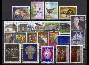 1168-1189 Luxemburg Jahrgang 1987 komplett, postfrisch