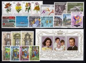 1190-1213 Luxemburg Jahrgang 1988 komplett, postfrisch