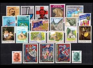 1214-1235 Luxemburg Jahrgang 1989 komplett, postfrisch