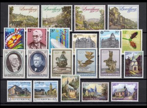 1236-1262 Luxemburg Jahrgang 1990 komplett, postfrisch