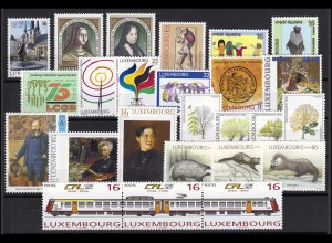 1385-1409 Luxemburg Jahrgang 1996 komplett, postfrisch