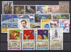 1466-1489 Luxemburg-Jahrgang 1999 komplett, postfrisch