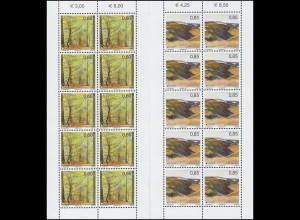 1904-1905 EUROPA Der Wald 2011, Kleinbogen-Satz **