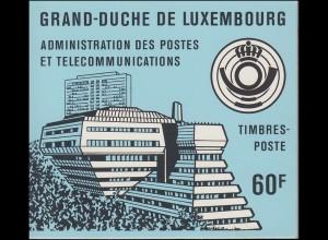 Luxemburg-Markenheftchen 1 Robert Schuman 1986, blauer Deckel, ESSt 36.6.1986