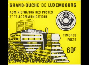 Luxemburg-Markenheftchen 1 Robert Schuman 1986, gelber Deckel, **