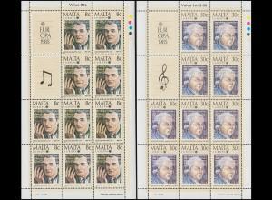 Malta 726-727 Europa Europäisches Jahr der Musik, Kleinbogen-Satz **
