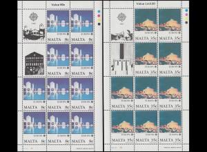 Malta 766-767 Europa Moderne Architektur, Kleinbogen-Satz **