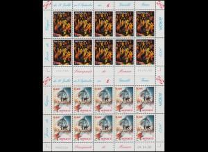 2600-2601 EUROPA Zirkus 2002, Kleinbogen-Satz **