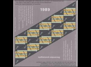 1374 Dezembermarke Kerze 1989 - Kleinbogen, postfrisch **