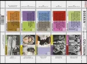 1862-1871 Buchwoche 2001 - Kleinbogen, postfrisch **