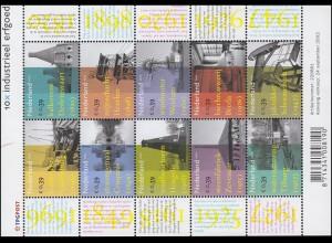2033-2042 Industrielles Erbe 2002 - Kleinbogen, postfrisch **