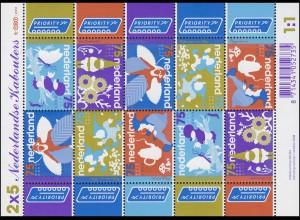 2610-2614 Niederländische Kobolde 2008 - Kleinbogen, postfrisch **