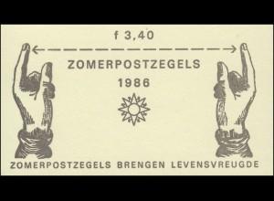 Markenheftchen 33 Sommermarken - Messinstrumente 1986 - PB 32, **
