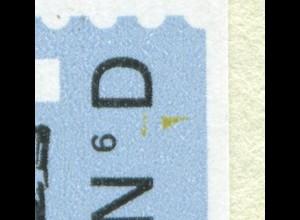 Markenheftchen 33 Sommermarken mit PB 32, Feld 4: gelber Fleck unter ND, **