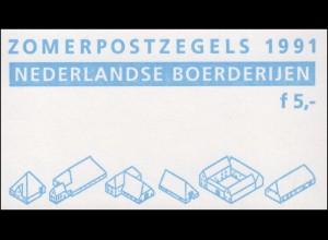 Markenheftchen 43 Sommermarken - Niederländische Bauernhöfe 1991 und PB 41, **