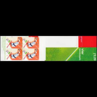 Markenheftchen PB 52 Königlicher Tennisbund 1999 mit 4x1708 Richard Krajicek, **