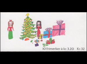 Norwegen Markenheftchen 16 Weihnachen Christmas Jul 1990, ** postfrisch