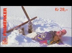 Norwegen-Markenheftchen 26 Weihnachen Christmas Jul 1995, ** postfrisch