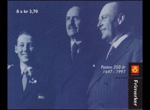 Norwegen Markenheftchen 31 Postjubiläum 1997, **