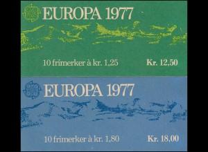 Norwegen-Markenheftchen 742+743 Landschaften, 2 MH ohne Kontrollnummern **